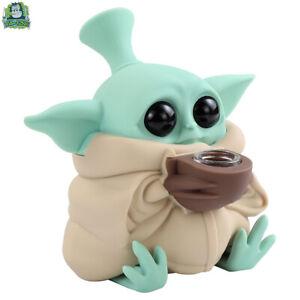 Silicone Collectible Star Wars Baby Yoda Smoking Hookah Tobacco Bong Glass Bowl