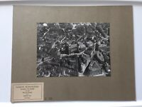 Antique Vintage Ste. Gudule Cathedral Flemish Architecture Photograph Airplane V