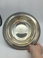 "Vintage WM ROGERS 862 Silver Plate Rope Edge 10 1/2"" Serving Bowl"