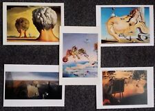 LOT OF 5 POSTCARDS OF PAINTINGS BY SALVADOR DALI