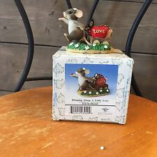 """Charming Tails Mouse Figurine """"Bringing Along a Little Love"""" 98/245 Fitz & Floyd"""