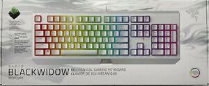 Razer BlackWidow Mercury White Mechanical Gaming Keyboard RGB Light - Brand New