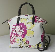 Brahmin Dahlia Bouquet Floral Large Duxbury Satchel Shoulder Bag