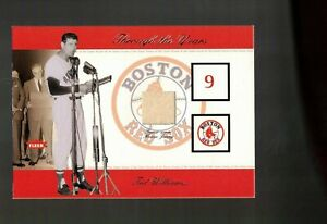 TED WILLIAMS    game used BAT piece   2002 FLEER greats    THROUGH THE YEARS