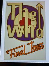 Vintage NOS 1980's The Who Band Tour T-Shirt Transfer Memorabilia 058
