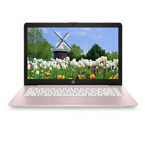 "NEW HP Stream 14"" HD Intel N4000 64GB eMMC 4GB RAM Intel UHD Win 10 Rose Pink"