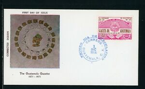 Guatemala Scott #C570 FIRST DAY COVER Postage Stamp Centenary $$