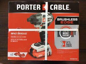 Porter Cable 20V Li-Ion Brushless Impact Driver Kit with 2 Batteries - PCCK647LB