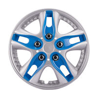 4pcs New Car Vehicle Blue Wheel Rim Skin Cover  Hubcaps Wheel Covers 13Inch