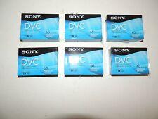 New listing Lot of 6 Sealed Sony Premium Mini Dv Dvc Digital Video Cassette Tapes Dvm60Prr