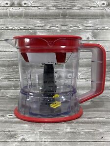 Ninja Storm Replacement 40-oz 5 Cup Food Processor Bowl Plastic Clear Red Blade