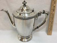 "Silverplate Tea or Coffee Pot EPNS T Poole Georgian 1404 C 9"" Vintage"