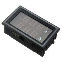 2X(Dc 0-100 V 10A Led Digital Voltmeter Amperemeter Spannung Doppel Panel E8R5)