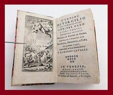 settecentina Eneide Virgilio Annibal Caro Venezia Comin 1783 incisioni in rame