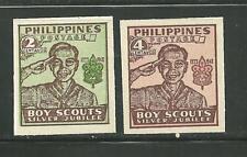 PHILIPPINES 528-29 MNH IMP 25TH ANNIVERSARY PHILIPPINE BOY SCOUTS SCV 5.00
