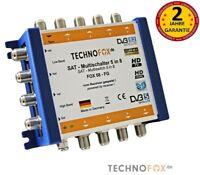 5/8 Sat Multischalter FOX 3.0 4K UHD HDTV FullHD 2 Jahre Garantie MADE IN GERMAN