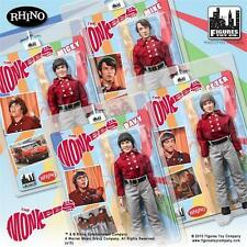 THE MONKEES 8 INCH ACTION FIGURE; RED  BAND OUTFIT; SET OF 4; MICKY; DAVY. PETER