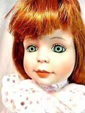 """Dynasty Strawberry Blonde Green Eyes """"Jacklyn"""" 16"""" Porcelain Doll Pink Dress Mib"""