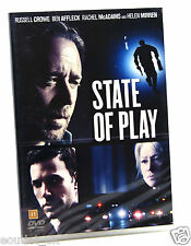 State of Play DVD Region 2 NEW SEALED Russell Crowe