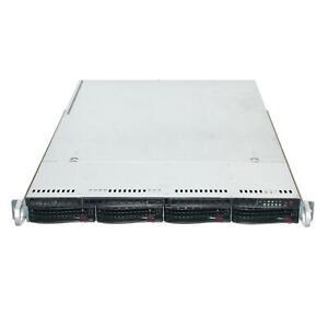 SUPERMICRO CSE-815TQ-R500UB X9DBU-IF 2x intel Xeon E5-2407 2.2GHZ 24GB 1U Server