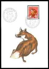 SCHWEIZ MK 1966 FAUNA FUCHS FOX RENARD MAXIMUMKARTE MAXIMUM CARD MC CM m980