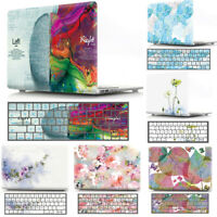 Pattern Protective Case Shell+Keyboard Skin for MacBook Air Pro 11 12 13 15 inch