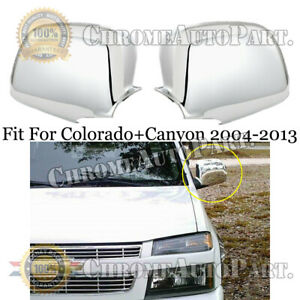 FOR GMC CANYON 2004-2013+CHEVY COLORADO 2004-2013 CHROME FULL SIDE MIRROR COVERS