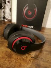 Beats By Dr Dre Studio 2 Wired Gloss Black Red Headphones Headband B0500
