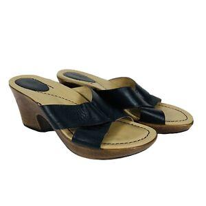 Dansko Black Leather Formal Sandals Heels1004027800 Women's Size 40