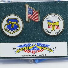 Desert Storm Support Our Troops Set of 3 pins