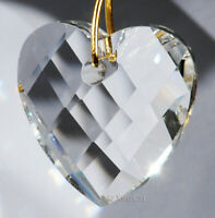 Heart 32mm Crystal Clear Matrix Faceted Prism Pendant SunCatcher 1-1/4 inch