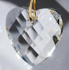 Heart 32mm Crystal Clear Matrix Faceted Prism Pendant SunCatcher 1-1/4 inch