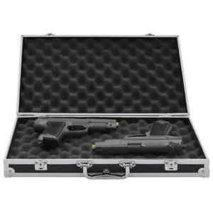 vidaXL Custodia per Pistola Alluminio ABS Nera Contenitore Valigetta Scatola