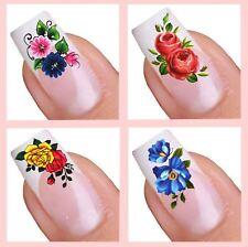 Water Decal Nail Art Sticker Set - Flower (041,124,127,046)