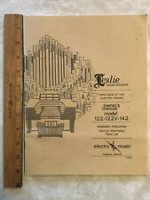 Leslie 122/122V/142 original manual
