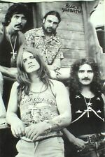 "BLACK SABBATH ""BLACK & WHITE GROUP SHOT"" POSTER FROM ASIA - Heavy Metal Music"