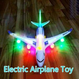 Electric Toy With Light & Music Kids Airplane Airbus  Bump  And Go Toy Sale