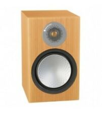MONITOR AUDIO SILVER 100 6G NATURAL OAK PAIR SPEAKERS SHELF NEW WARRANTY
