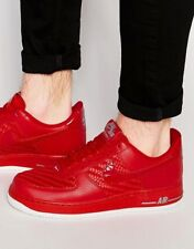 Nike Air Force 1 07 LV8 Triple Gym Red White PATENT Leather Carbon Fiber Sz 9
