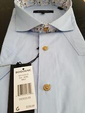 Wow Bogosse Men's size 8 or 4XL Short sleeve button down shirt, FABULOUS