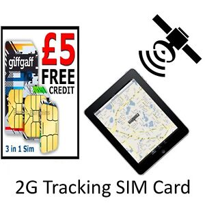 2G Sim Card for GPS Tracking Device Alarm GSM Car Pet Child Personal on PAYG