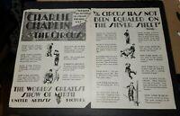 CHARLIE CHAPLIN THE CIRCUS 2 PG TRADE AD SUNRISE F W MURNAU 1928.