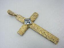 Anhänger Kreuz Kreuzanhänger original Theodor Fahrner ║925 Silber vergoldet ║T98