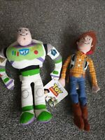Disney Pixar Toy Story 4 Buzz Lightyear And Woody Plush Soft Toys Tags