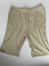 Pretty Little Thing Sand/ Nude jersey Cycling Shorts Uk Size 8