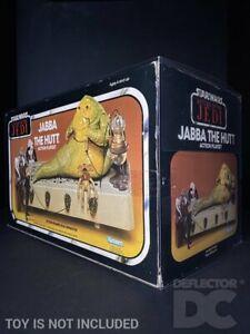 DEFLECTOR DC® MIB DISPLAY CASE: Star Wars Vintage Jabba The Hutt Action Playset