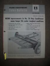 Original IH International Harvester 1960 Sales Bulletin No. 2A Hay Conditioner