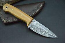 Jagdmesser Hirschhorn Damastmesser Taschenmesser Messer Bowie Damast Skinner #56