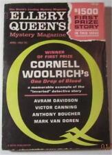 ELLERY QUEEN MYSTERY MAGAZINE APRIL 1962 CORNELL WOOLRICH AVRAM DAVIDSON