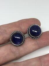 Vintage Blue Lapis Lazuli Cuff Links